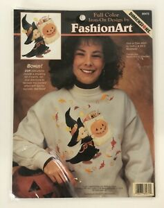 Retro Dimensions Full Color Iron On Fashion Art Halloween Trick or Treat Witch