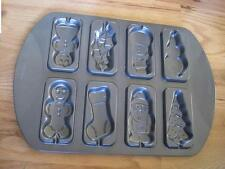 "Wilton Christmas Mini Cake Pan Mold Ginger Bread Man Tree Soldier 16""x11.5"" New"