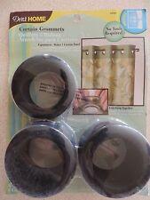 Curtain Grommets 1-9/16 Inch Inner Diameter 8 ct. Matte Black