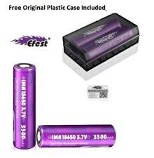 2 x Genuine Purple Efest 3500mAh IMR 3.7V 18650 Battery Flat Top 20A Vape Mod