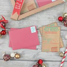 Christmas Elf Watch Letter Kit Xmas Santa Letters To Elves with 12 Envelopes