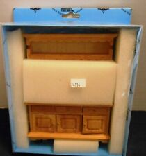 Town Square Miniatures Doll's House China Cabinet Hutch T4114 New
