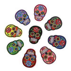 8pcs Skull Sewing Embroidered Patch DIY Jackets Pants Bag T-Shirt Applique