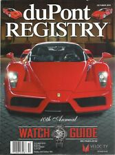 DUPONT REGISTRY MAGAZINE  OCTOBER 2016 10th ANNUAL WATCH GUIDE - FREE SHIP!!