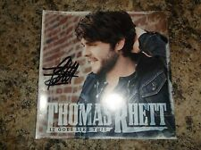 THOMAS RHETT IT GOES LIKE THIS CD FROM 2013 HAND SIGNED BOOKLET RARE