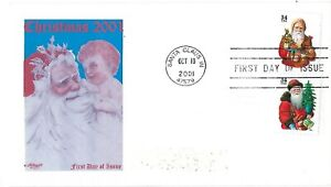 FDC 2001 Christmas on Artmaster SC#3541 3543