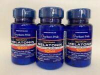 3 Bottles Puritan's Pride   Melatonin 10mg Strawber  Quick Dissolve 270 tablets