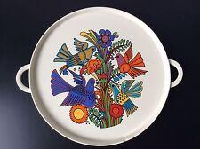 Plat rond à anses en faïence décorée de Villeroy & Boch modèle Acapulco XXème