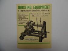 1930s Federal Le Moon Truck Co Hoist Hoisting Equipment Catalog Brochure Vintage
