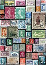 Timbres 1922-1926. Merson, Semeuse, Orphelin de la guerre, Pasteur. N°162 à 222