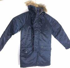 Vtg N-3B Snorkel Parka Sz 36 Blue Flying Jacket Coat Fur Hood Golden Fleece USAF