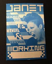 Janet Jackson Up Close & Personal TOUR BACKSTAGE WORKING PASS CONCERT SHOW Blue