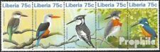 Liberia 1796-1800 five strips unmounted mint / never hinged 1996 Birds