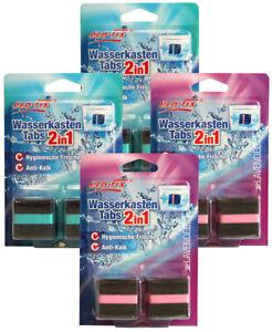 8 Stück WC Wasserkasten Tabs Tabletten Spülkasten Würfel Stein WC Duft Anti-Kalk