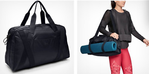 Under Armour UA Essentials 2.0 Duffle Bag Women's Gym Bag Yoga Black Premium New