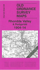 OLD ORDNANCE SURVEY MAP RHONDDA VALLEY MAESTEG PONTYPRIDD MOUNTAIN ASH 1904-1914