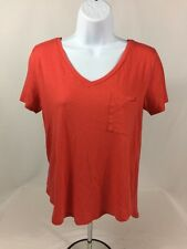 Abercrombie & Fitch Women's Red Short Sleeve Knit Top Sz XS EUC