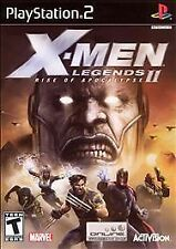 X-Men Legends II: Rise of Apocalypse (Sony PlayStation 2, 2005); include booklet