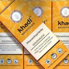 Khadi piante colore dei capelli oro tocco 100g, certificato Naturkosmetik pflegend bio