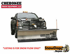SnowDogg/Buyers Products MD80, 8' SS Snow Plow for Smaller Trucks & SUV's