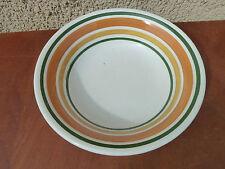 Ancien plat en céramique italienne GALBA , compotier vintage art populaire