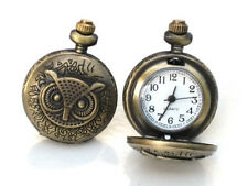 Steampunk - BRASS OWL POCKET WATCH CUFFLINKS - cuff links Steam Punk