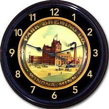 "Park Brewing Co Winona Minn Beer Tray Wall Clock Ale Lager Brew Barrels Brew 10"""