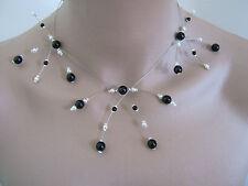 Collier Noir et Blanc p robe de Mariée/Mariage/Soirée perles, Original