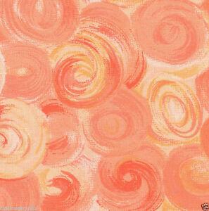 Orange Orbs Swirl Quilt Fabric - Fat Quarter