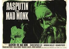 Rasputin the Mad Monk - Christopher Lee - Hammer - A4 Laminated Mini Poster