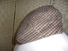Size L/XL  baker/news boy wool blend check flat cap.