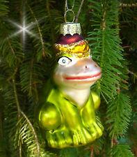 Inge Glas Christbaumschmuck Tümpel-Casanova 7,5cm Frosch Weihnachtskugel grün