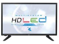 "TV LED HD 20"" alimentazione 12V / 220V X Barca Camper Camion TVSAT DVB-T2"