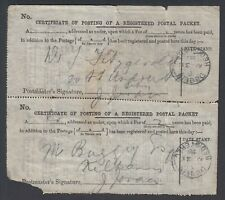 Ireland - Certificate of posting of a registered packet from Dublin (VG) MV-8560