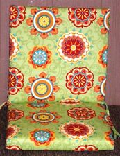 (4) Outdoor Patio Chair Cushions ~ Aztec Floral ~ 19 x 36.5 x 2.5 **NEW**