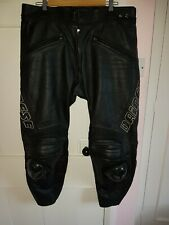 """DAINESE LUCE MENS LEATHER MOTORCYCLE TROUSERS - SIZE 56 EURO 36/38"""" W 31"""" Leg"""