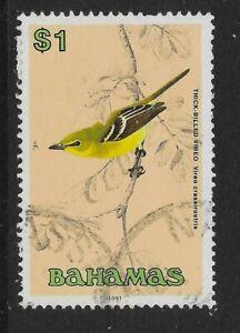 BAHAMAS SG904 1991 $1 THICK BILLED VIREO USED