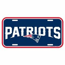 New England Patriots Plastic License Plate Auto Tag Wall Sign 6x12 FAST SHIP