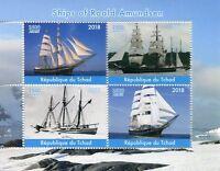 Chad 2018 MNH Roald Amundsen Ships 4v M/S Boats Exploration Nautical Stamps