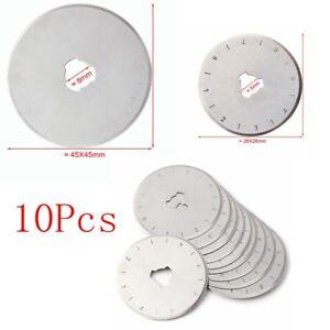 10x 28/45mm Rotary Cutter Spare Blades, Fits All: OLFA, DAFA, FISKARS MF