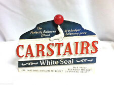 Carstairs White Seal blended American whiskey bar sign chalk chalkware statue A9