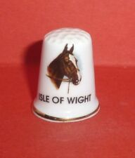 ISLE of WIGHT Brown Horse Head Thimble Island in the English Channel