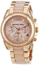 MICHAEL KORS BLAIR CHRONOGRAPH WOMENS WATCH MK5943 ROSE DIAL RRP £279.00