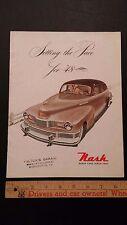 1948 Nash 600 - Color Sales Catalog Brochure - Good/V Good (Us)