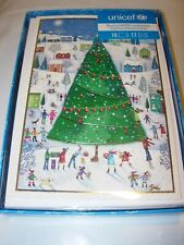 16 Christmas Cards & 17 Envelopes Unicef Snow Tree Homes People Dogs Holiday 5X7
