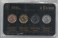 Slowakei 2 Euro Prestige Metal Coinset, Gold, Platin, Ruthenium, Neu,OVP,SELTEN
