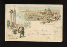 Italy Saluti da VENEZIA Used 1896 u/b PPC