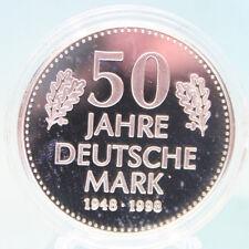 DEUTSCHLAND: GEDENKAUSGABE ZUR 10 DM-MÜNZE 1998: 50 Jahre Deutsche Mark, PP, K3