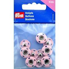5 BOTTONI A PRESSIONE Prym Automatici Rosa Bottone per Abbigliamento da Bambina