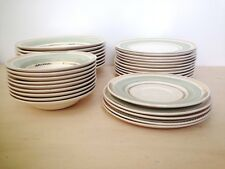Set of 34 pcs American Limoges fine bone china, Candle Light, Lyceum green, gold